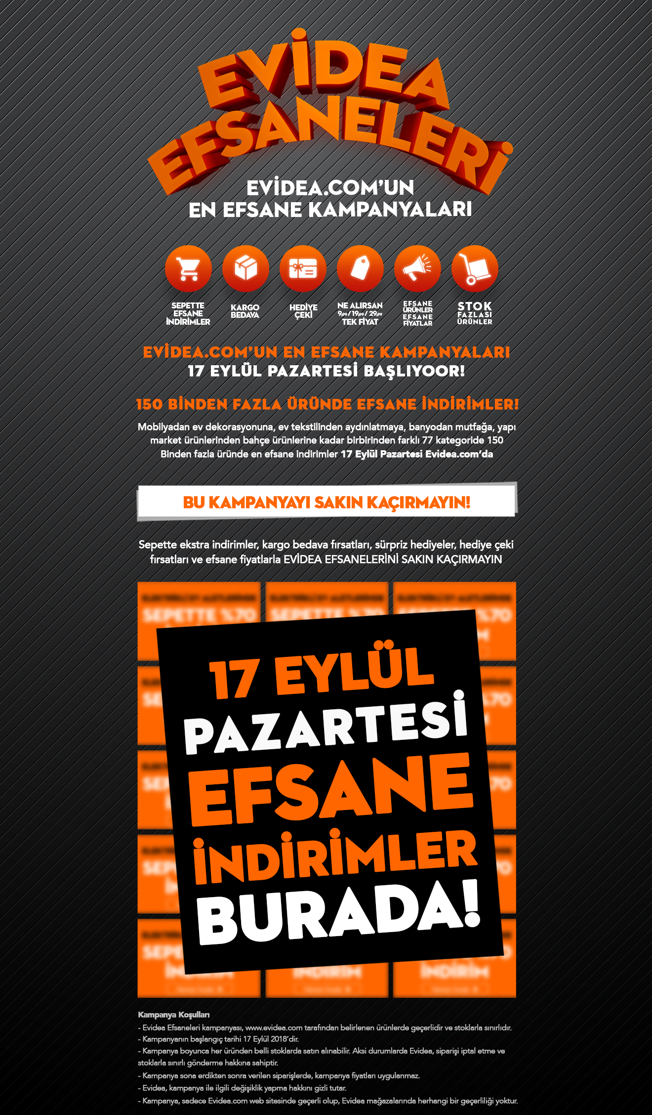 evidea.com Evidea Efsaneleri kampanyası